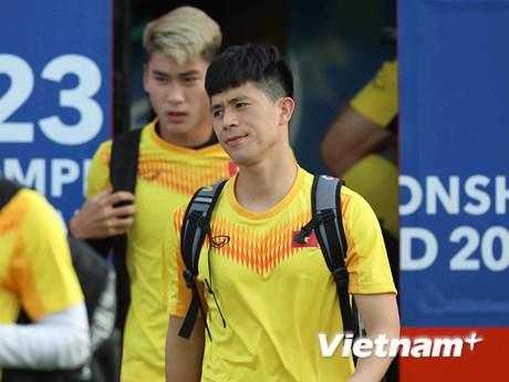 Đội hình dự kiến U23 Việt Nam-U23 UAE: Đình Trọng, Bùi Tiến Dũng dự bị | Bóng đá | Vietnam+ (VietnamPlus)