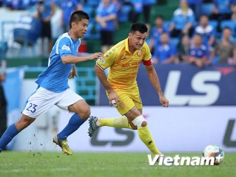 """Than Quảng Ninh lội ngược dòng trước Nam Định dưới """"cơn mưa bàn thắng""""   Bóng đá   Vietnam+ (VietnamPlus)"""