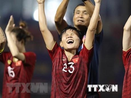 BIDV thưởng 500 triệu đồng cho tuyển bóng đá nữ nếu vô địch SEA Games  | Bóng đá | Vietnam+ (VietnamPlus)