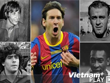 """Messi vượt """"tứ trụ"""""""
