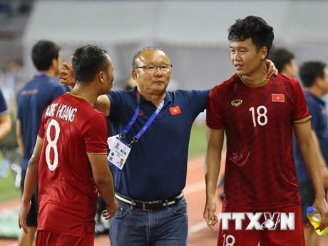 Những hình ảnh ấn tượng của U22 Việt Nam tại vòng bảng SEA Games 30 | Bóng đá | Vietnam+ (VietnamPlus)