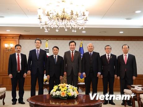 Hình ảnh Đoàn đại biểu TTXVN thăm và làm việc tại Hàn Quốc