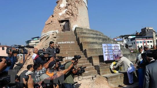Nepal tái thiết các di sản văn hóa một năm sau động đất