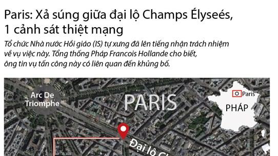 [Infographics] Xả súng giữa đại lộ Champs Elysees của Pháp