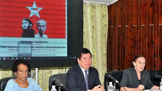 Hội thảo tôn vinh giá trị tư tưởng Hồ Chí Minh và Fidel Castro