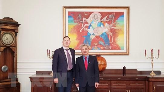 Hội hữu nghị Ukraine-Việt Nam chào từ biệt Đại sứ Nguyễn Anh Tuấn