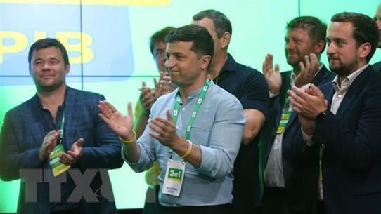 Bầu cử Quốc hội Ukraine: Đảng Phụng sự Nhân dân giành đa số tuyệt đối