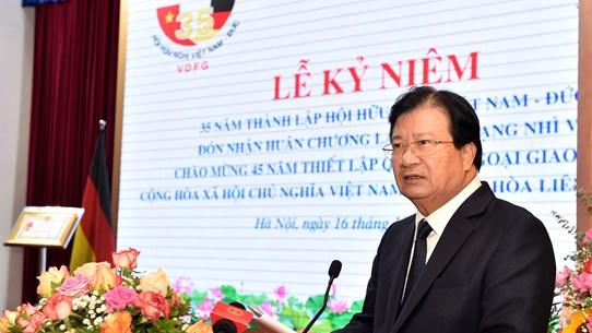 Thúc đẩy quan hệ hữu nghị, hợp tác giữa nhân dân Việt Nam và Đức