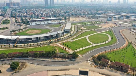 Đường đua xe ôtô công thức 1 tại Hà Nội chính thức hoàn thành