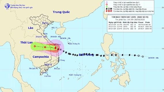 Bão số 9 đi vào đất liền từ Quảng Nam đến Bình Định, gió giật cấp 12