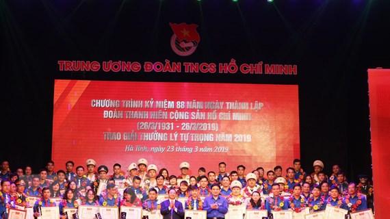 72 cán bộ Đoàn tiêu biểu được nhận Giải thưởng Lý Tự Trọng năm 2019