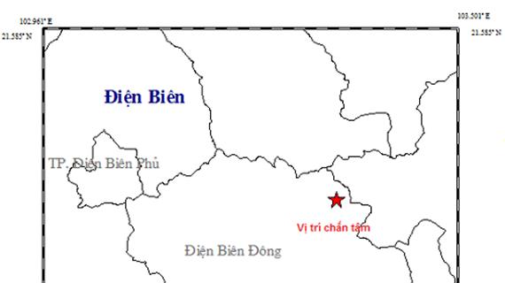 Viện Vật lý địa cầu ghi nhận dư chấn động đất 2,7 độ ở Điện Biên