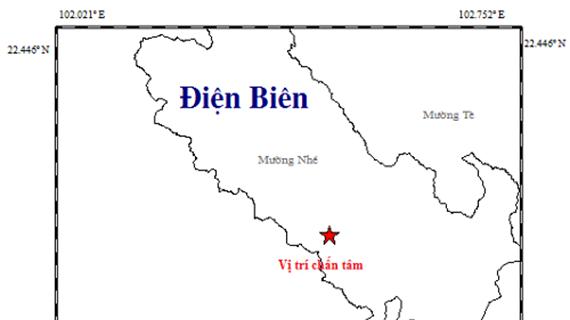 Xảy ra trận động đất thứ chín trong năm nay tại Điện Biên