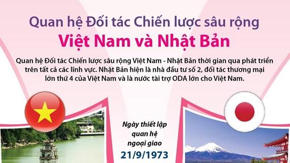 [Infographics] Quan hệ đối tác chiến lược sâu rộng Việt Nam-Nhật Bản