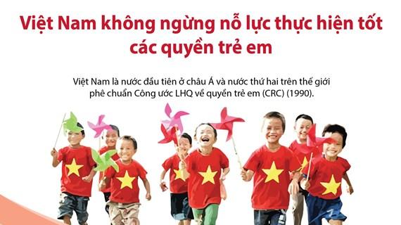 Việt Nam không ngừng nỗ lực thực hiện tốt các quyền trẻ em