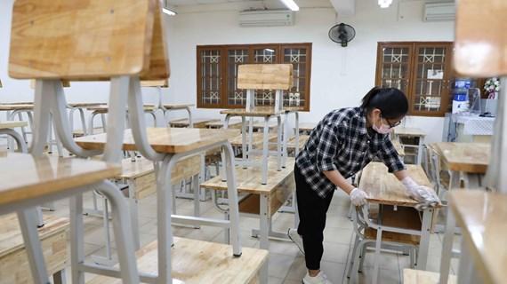 Bảo đảm cơ sở vật chất, sẵn sàng cho học sinh đi học trở lại