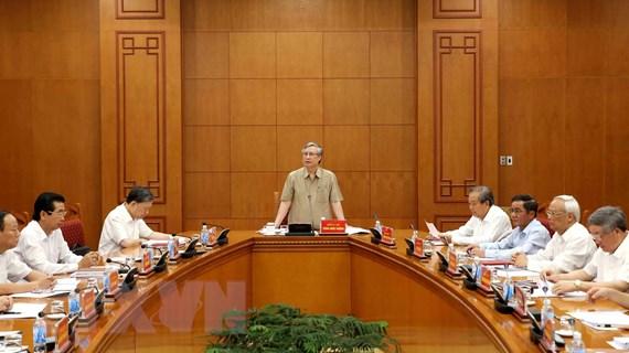 Thường trực Ban Chỉ đạo TW về tham nhũng cho ý kiến về một số vụ án
