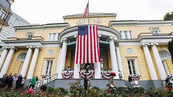 Công dân Nga điều khiển xe đâm vào cổng nhà đại sứ Mỹ ở Moskva