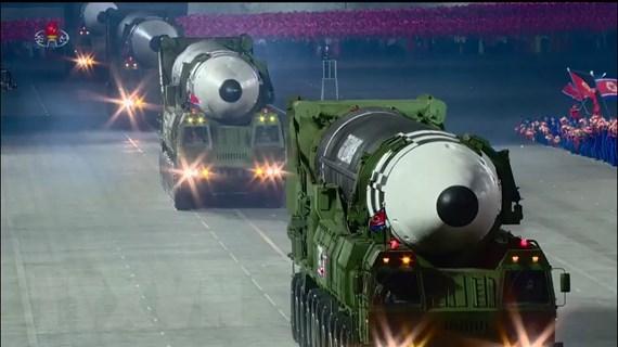 Mẫu tên lửa đạn đạo mới của Triều Tiên có thể mang đầu đạn tới 3 tấn