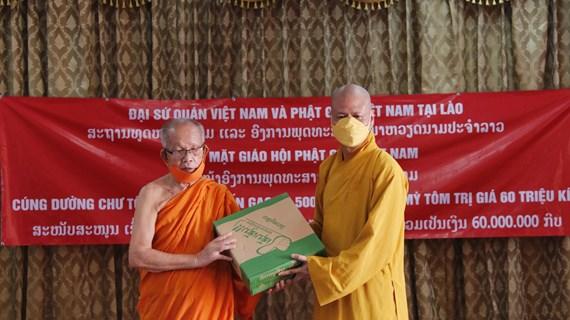 Giáo hội Phật giáo Việt Nam hỗ trợ Lào vượt qua khó khăn của dịch