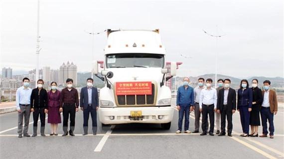 Quảng Ninh tiếp nhận vaccine, vật tư y tế do Trung Quốc viện trợ
