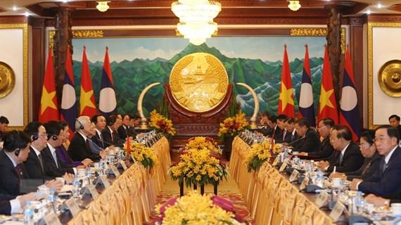 Việt Nam-Lào hội đàm cấp cao, ký kết 9 văn kiện hợp tác