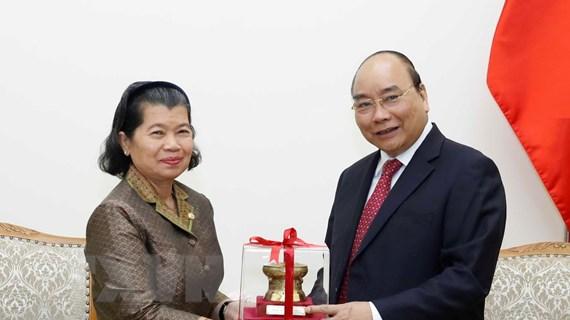 Thủ tướng Nguyễn Xuân Phúc tiếp Phó Thủ tướng Campuchia Men Sam An