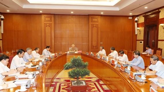[Photo] Tổng Bí thư chủ trì cuộc họp về phòng, chống tham nhũng