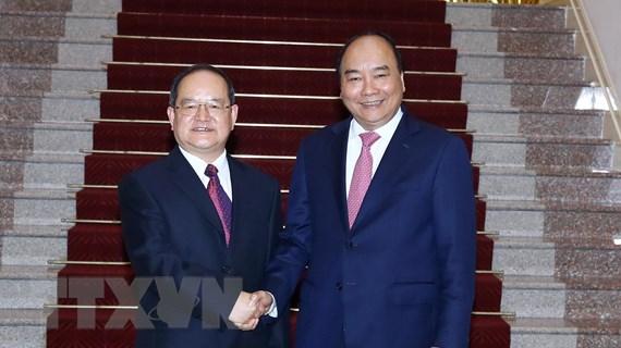 Thủ tướng tiếp Bí thư Đảng ủy Khu Tự trị dân tộc Choang Quảng Tây
