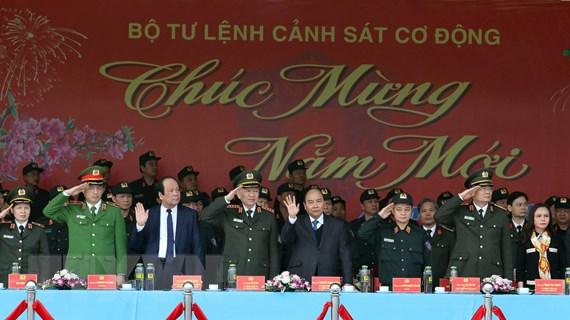 Thủ tướng kiểm tra công tác sẵn sàng chiến đấu của Cảnh sát cơ động