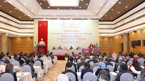 Thông báo về Đại hội XIII tới đoàn ngoại giao và các tổ chức quốc tế