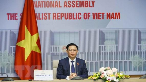 Hình ảnh Chủ tịch Quốc hội hội đàm với Chủ tịch Nhân đại Trung Quốc