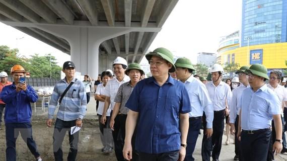 Bí thư Thành ủy Hà Nội kiểm tra một số dự án giao thông trọng điểm