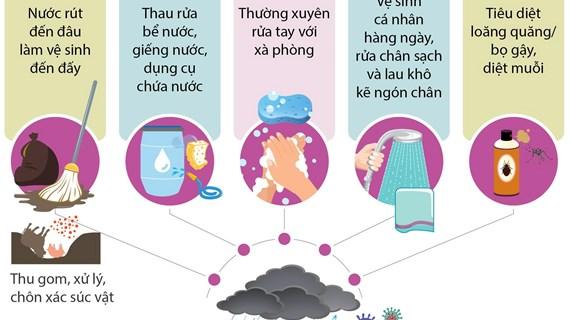 [Infographics] Chủ động phòng chống dịch bệnh trong mùa mưa lũ