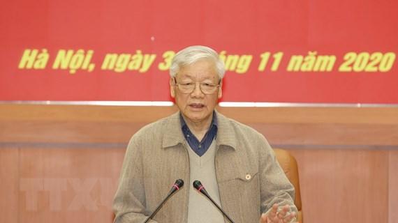 [Photo] Tổng Bí thư, Chủ tịch nước chủ trì Hội nghị Quân ủy Trung ương