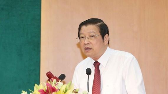 Trưởng Ban Nội chính Trung ương Phan Đình Trạc làm việc tại Phú Thọ