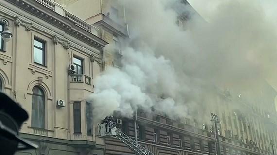 Nga: Hỏa hoạn tại tòa nhà có trụ sở Thương vụ Việt Nam tại Moskva