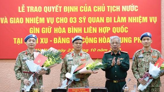 Thêm 3 sỹ quan quân đội đi làm nhiệm vụ gìn giữ hòa bình Liên hợp quốc