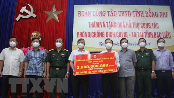 Đồng Nai hỗ trợ tỉnh Bạc Liêu phòng, chống dịch COVID-19