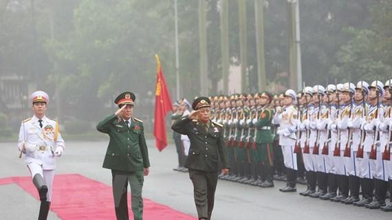 Đoàn đại biểu Chính trị cấp cao Quân đội Lào thăm chính thức Việt Nam