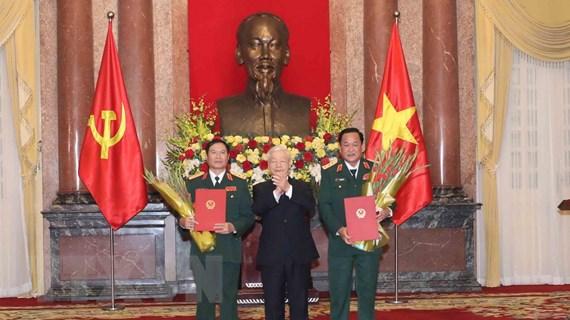Thăng quân hàm Thượng tướng cho hai Thứ trưởng Bộ Quốc phòng
