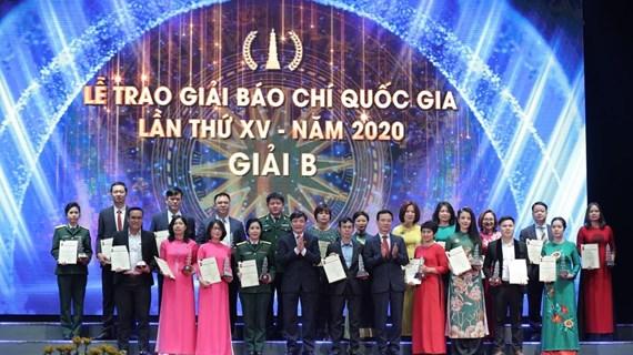 Năm thứ 9 báo VietnamPlus được vinh danh tại Giải Báo chí Quốc gia