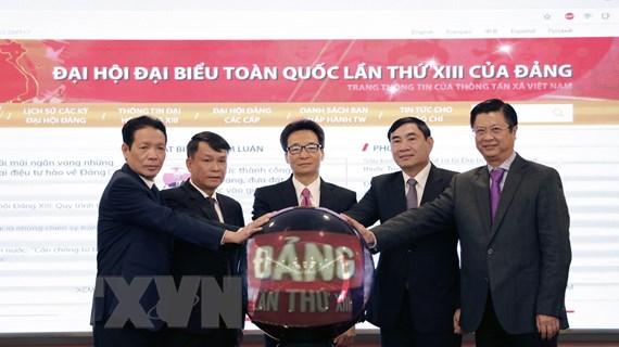 TTXVN ra mắt trang thông tin đặc biệt về Đại hội Đảng lần thứ XIII