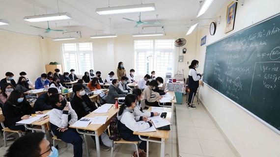 Học sinh trên địa bàn thành phố Hà Nội trở lại trường từ ngày 2/3