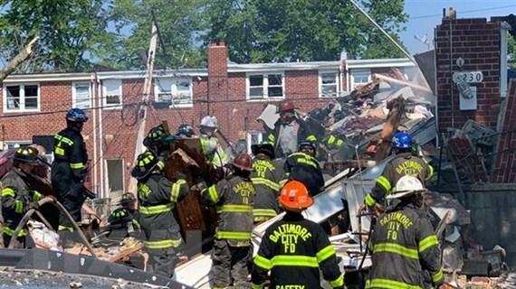 Mỹ: Một vụ nổ lớn san phẳng nhiều ngôi nhà ở Baltimore