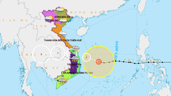 Tin mới nhất về bão số 9, giật cấp 17 hướng về Quảng Ngãi-Bình Định
