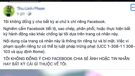 Người dùng mạng xã hội lại mắc lừa trò đùa quyền riêng tư Facebook
