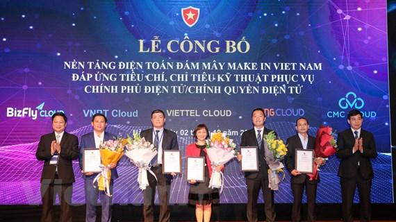 Công bố 5 nền tảng Cloud 'make in Vietnam' phục vụ Chính phủ điện tử