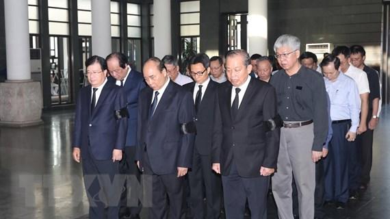 Hình ảnh lãnh đạo Đảng, Nhà nước viếng đồng chí Vũ Mão