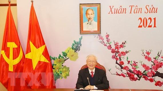 Tổng Bí thư Nguyễn Phú Trọng điện đàm với Tổng Bí thư Lào Sisoulith
